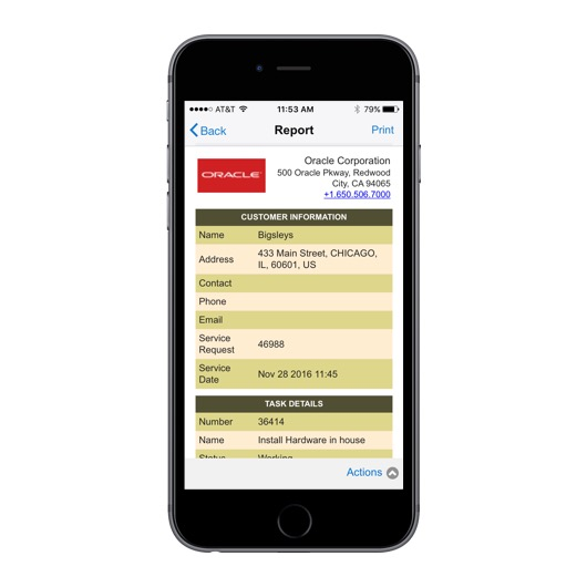 oracle application express for mobile
