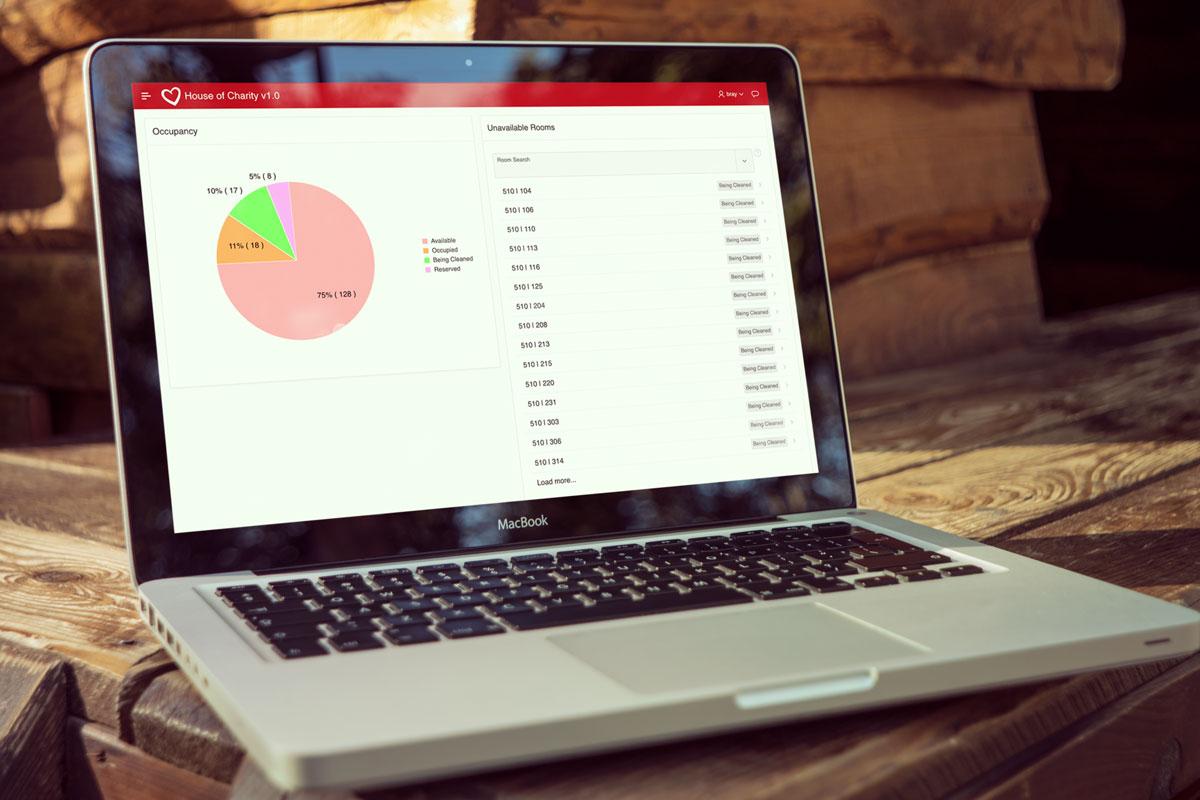 House of Charity enterprise web application, occupancy module